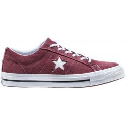 converse one star - bordeaux, syntetic/textile, textile