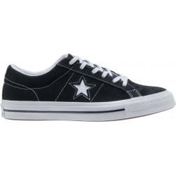 converse one star - noir, syntetic/textile, textile