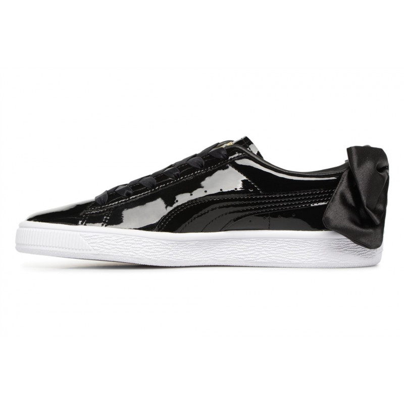 PUMA WN SUEDE BOW PATENT black 368118-01 CUIR VERNIS VERNIS VERNIS CUIR TEXTILE 38 - black NEUF 20923f