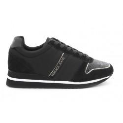 versace stella - black, cuir/suede, cuir/textile