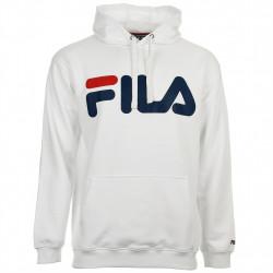 fila classic logo hood kangaroo - white, textile, textile