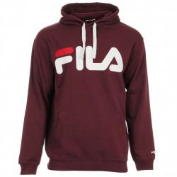 fila classic logo hood kangaroo - bordeaux, textile, textile