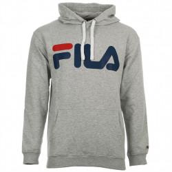 fila classic logo hood kangaroo - gris, textile, textile
