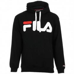 fila classic logo hood kangaroo - noir, textile, textile