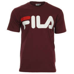 fila classic logo tee - bordeaux, textile, textile