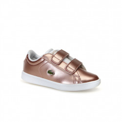 LACOSTE - LACOSTE CARNABY ENFANT - rose, cuir, cuir/textile