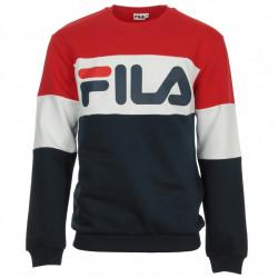 fila straight blocked crew - bleu, textile, textile