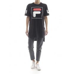 fila sky tee dress 2.0 - noir, textile, textile