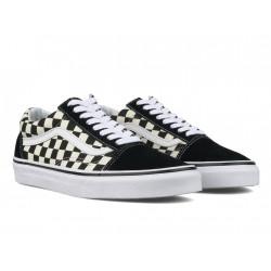 vans chaussures old skool - noir-blanc, textile, textile