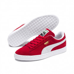 puma suede classic - rouge, cuir velours, cuir