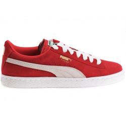 puma suede classic junior - rouge, cuir/suede, cuir/textile