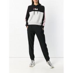 fila wenda hooded sweat - noir, textile, textile