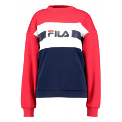 fila angela crew sweat 2.0 - rouge, textile, textile