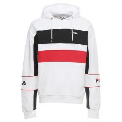 fila tan hoodie - blanc, textile, textile