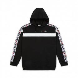 fila robben tape hoodie - noir, textile, textile