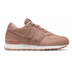 new balance gc574 - rose, cuir/suede, cuir/textile