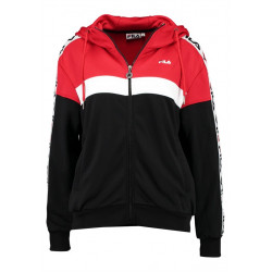 fila teela track hooded zip - rouge, textile, textile