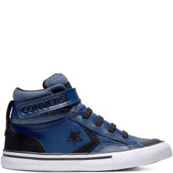 converse pro blaze strap hi - bleu, cuir, textile