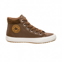 converse pc boot hi - marron, cuir, textile