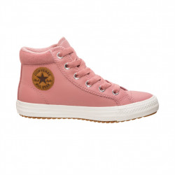 converse pc boot hi - rose, cuir, textile