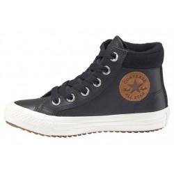 converse pc boot hi - noir, cuir, textile