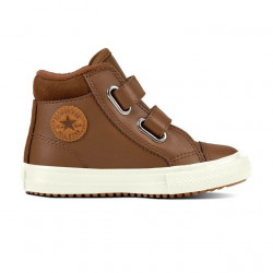 converse 2v pc boot hi - marron, cuir, textile