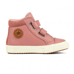 converse 2v pc boot hi - rose, cuir, textile