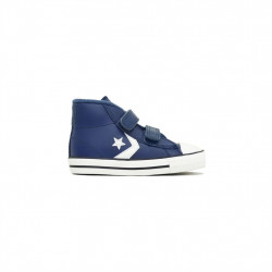 converse 2v pc boot hi - bleu, cuir, textile