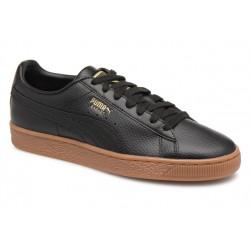 puma classic glum - noir, cuir/synthetic, cuir/textile