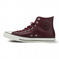 converse chuck taylor leather - bordeaux, cuir, textile