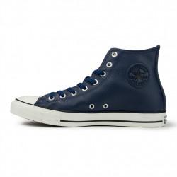 converse chuck taylor leather - bleu, cuir, textile