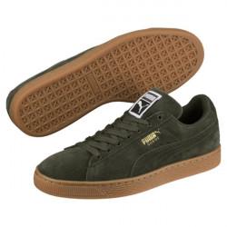 puma suede classic - kaki, cuir velours, cuir