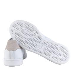 adidas chaussure stan smith - blanc-rose-pale, cuir, cuir/textile