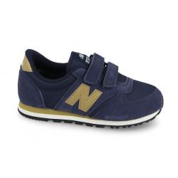 new balance ke420 vgy - bleu, cuir/suede, cuir/textile
