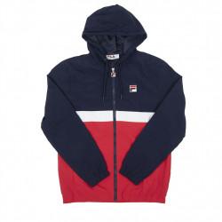 fila tate half zip jacket - bleu, textile, textile