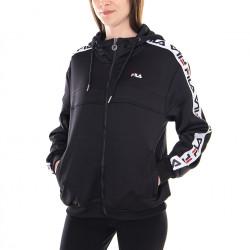 fila teela track hooded zip - noir, textile, textile