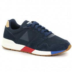 le coq sportif omega x sport - bleu, cuir/textile, cuir/textile