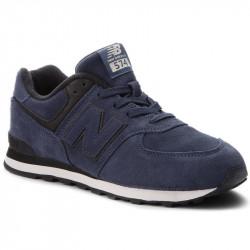 new balance gc574 er - bleu, cuir/suede, cuir velours