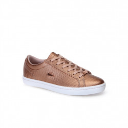 lacoste straightset - rose-metal, cuir, cuir/textile