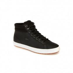 lacoste straightset - noir, cuir, cuir/textile