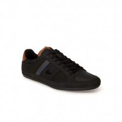lacoste chaymon - black, cuir, cuir/textile