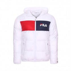 fila floyd puff hood jacket - blanc, textile, textile