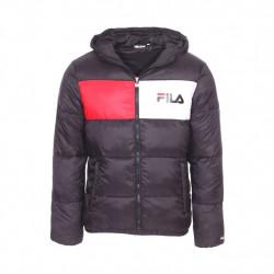 fila floyd puff hood jacket - noir, textile, textile