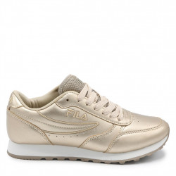 fila orbit low - gold, synthetic, textile