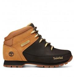 timberland euro sprint hiker - wheat black nubuck - noir, cuir, cuir