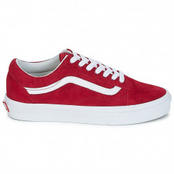 vans chaussures old skool - new-rouge, nubuck, textile
