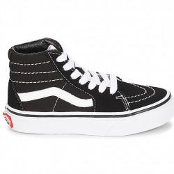 vans sk8-hi - black-white, nubuck, textile