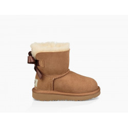 ugg mini bailey bow ii - chestnut, mouton, mouton