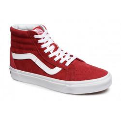 vans chaussure sk8 - rouge, nubuck, textile