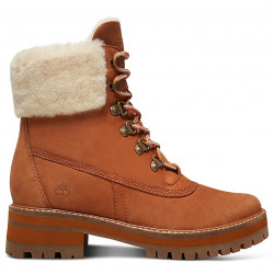 timberland courmayeur valley shearling - saddle, cuir, cuir